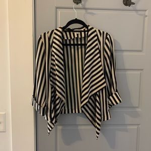 Striped light blazer